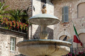 Assisi fountain in the Main Square — Stock Photo