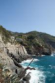 Cinque Terre - road of love. Liguria, — Stock Photo