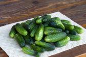 Fresh green cucumber — Stock Photo