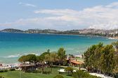 Aegean coast - Recreaiton area and beach — Stock Photo