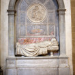 Tomb of  Raffaello  Morghenin the Basilica Santa Croce in Florence. - Stock Photo