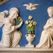 Annunciation - St. Gabriel announces the Virgin Mary — Stock Photo