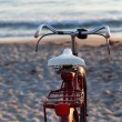 Royalty-Free Stock Photo: Old red bike on the beach