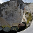 The Marble Quarries - Apuan Alps , Carrara - Stock Photo