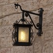 Assisi - old street lamp - Stockfoto