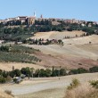 The medieval town of Pienza - Stock fotografie