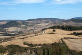 The hills around Pienza and Monticchiello — Stock Photo