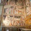 Florence -  Santa Croce: Frescoes in the Baroncelli Chapel - 图库照片