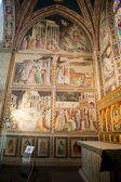 Florence - Santa Croce: Frescoes in the Baroncelli Chapel — Stok fotoğraf