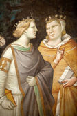 Florence - Santa Croce: Frescoes in the Baroncelli Chapel — 图库照片