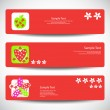 Royalty-Free Stock Obraz wektorowy: Set of banners Vector