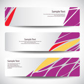 Set of banners Vector — Stockvector