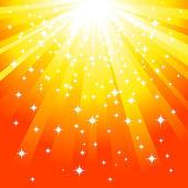 Magische gelben hintergrund — Stockvektor