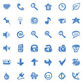 Hand-drawn icons — Stock Vector