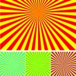 Set of different colour rays — Stock Vector