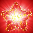 Royalty-Free Stock Vector Image: Magic red star background
