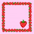 Strawberry frame — Stock Vector