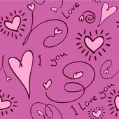 Seamless love background Vector — Stok Vektör