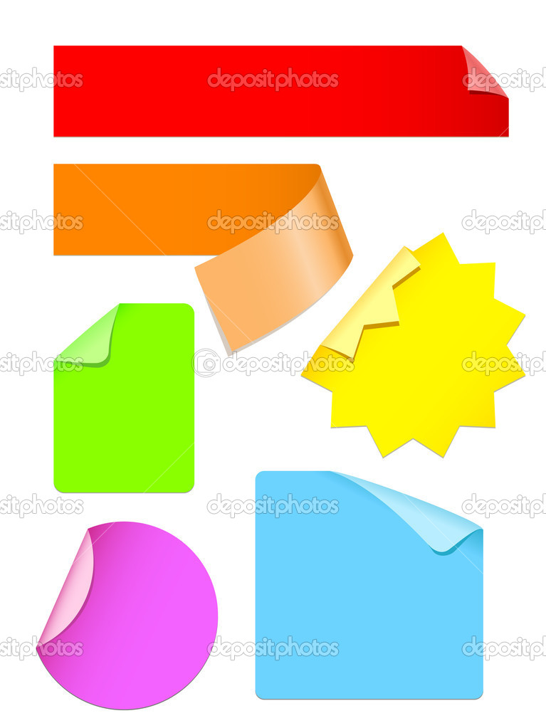 Set of colorful stickers vector — Stock Vector #11217884