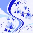 Blue floral background — Vektorgrafik