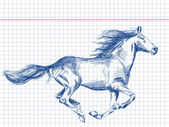 Hand drawn horse Vector — Stockvector