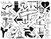 Sada ručně kreslenou šipek — Stock vektor