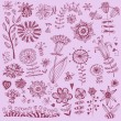 Hand drawn flowers Vector - Stock Vector