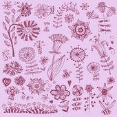 Hand drawn flowers Vector — Stock Vector