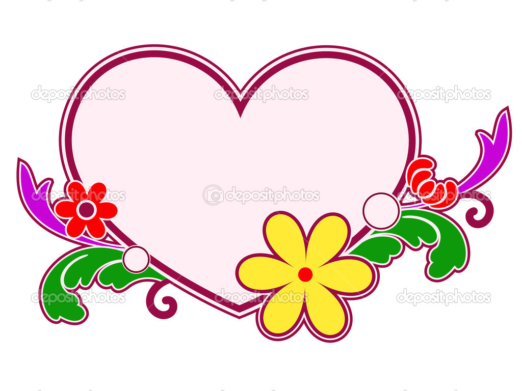Heart, flower and design element — Stock Vector #11346456