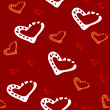 Seamless pattern with hearts Vector - Stock Vector