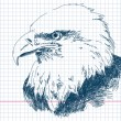 Hand drawn eagle Vector — Stock Vector