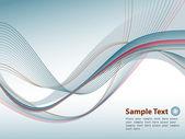 横幅与蓝色射线和为您的文本的地方 — 图库矢量图片