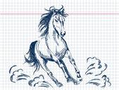 Hand drawn horse Vector — Stock Vector