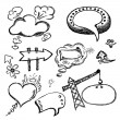 Hand Drawn Speech And Thought Bubbles — Stock Vector #11566917