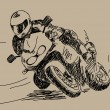 Hand drawn motorbike Vector - Stock Vector