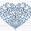 Hand drawn heart pattern — Stock Vector