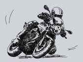Hand dras motorcykel vektor — Stockvektor