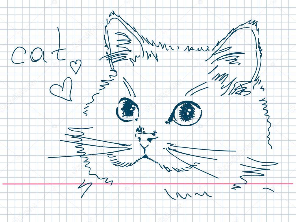 Кот своими руками рисунок