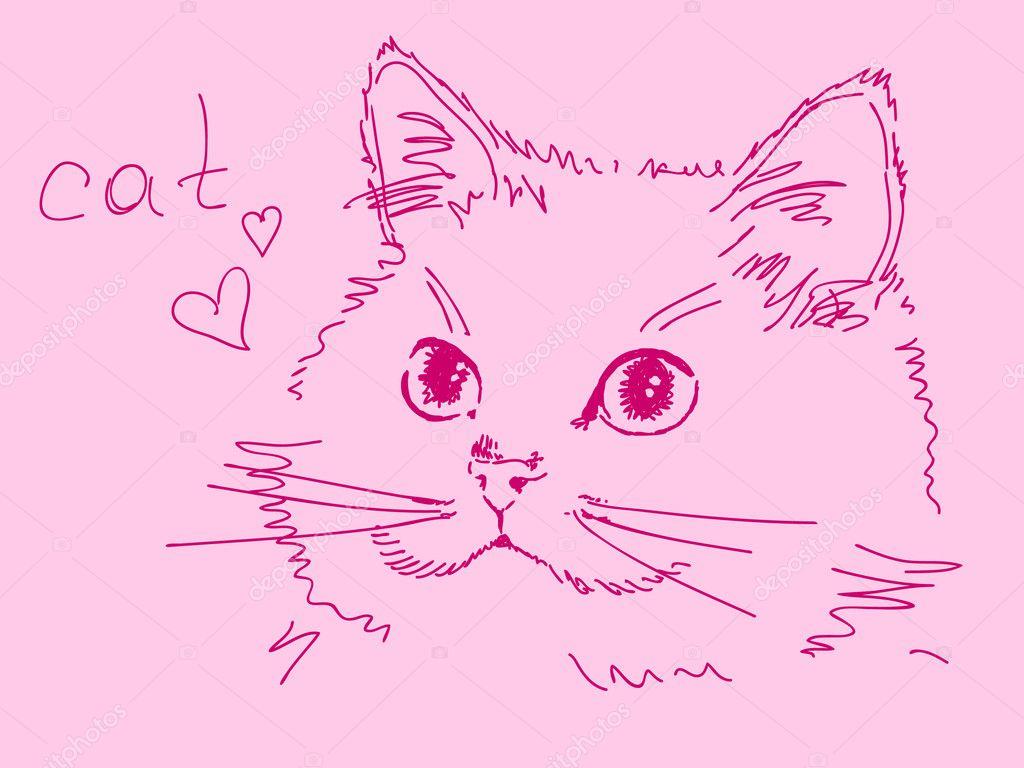 Нарисовать котенка своими руками