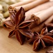 Various spices on the wooden board — Stock Photo #10751979