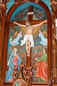 Altar in the basilica — Stock Photo