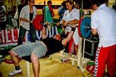 Bench press championship — Stock Photo