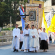 Pageantry for Assumption of Mary - Stock Photo