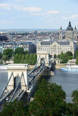 Budapest - Chain Bridge — Stock Photo