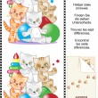 Find the differences visual puzzle - kittens - Stock Vector