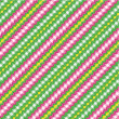Gingham fabric decorated with ric-racs, seamless pattern included - Stock Vector