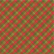 Christmas plaid background, seamless pattern included - Stock Vector