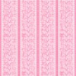 Stripes and laces pink silk tulle seamless background — Stock Vector