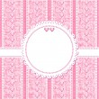Wedding, romantic or Valentine Day card template — Imagen vectorial