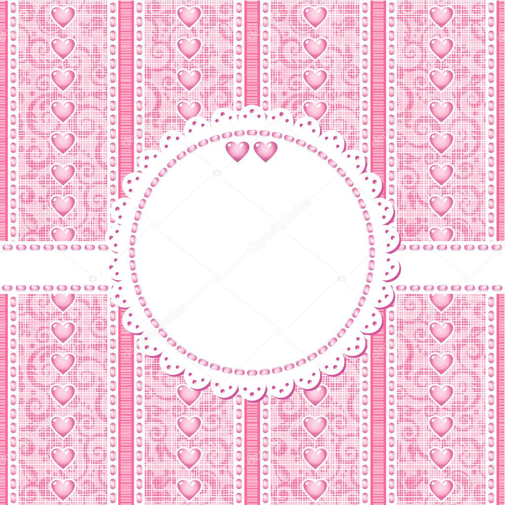 Wedding, romantic or Valentine Day card or invitation background with place for text and photos — Stock Vector #10894738